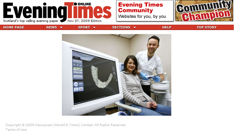 cosmetic dentistry glasgow Evening times article